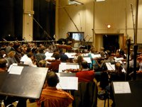 prague 200 Conducting an orchestral session in Prague