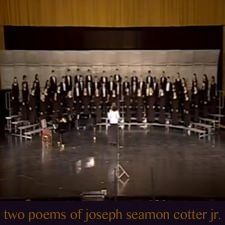 Two Poems of Joseph Seamon Cotter, Jr.